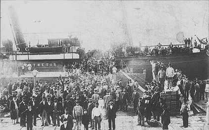 The main vehicles for the Jewish immigration history America were ships.     Most of the immigrants traveled from eastern europe to New York harbour