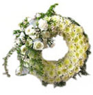 Classic white, this wreath symbolizes the eternal memories of a loved one held so dear