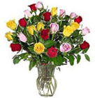 You can always make someone happy with a vase full of fragrant 36 Roses: Frisco, Mercedes and Saphir