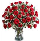 One of our most popular bouquets! 3 Dozen Roses in glass vase